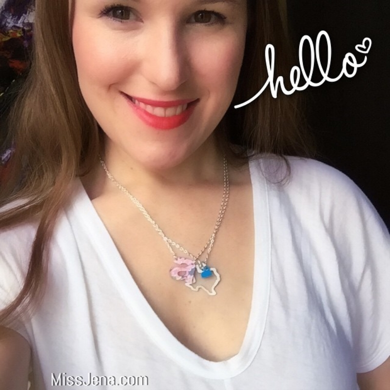 Hello! Texas and monogram A custom necklaces by impulse letters