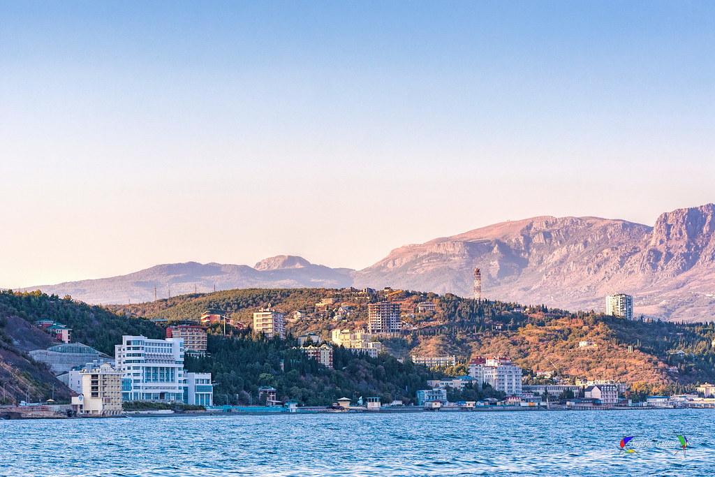 Crimean beach. Alushta.