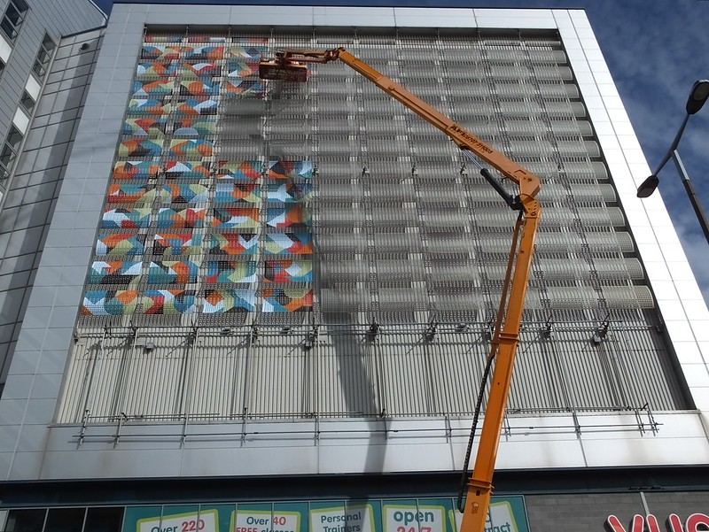 Kera street art on Millennium Plaze