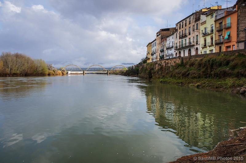 El río Ebro a su paso por Móra d'Ebre