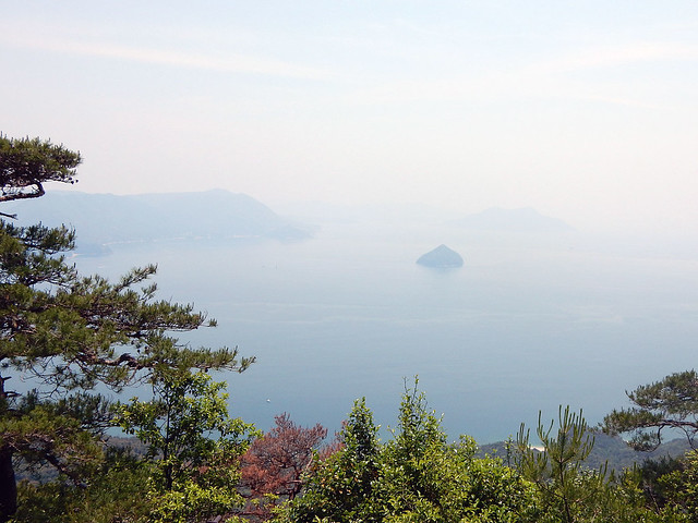View from the top of Mt Misen