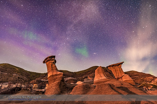 Faint Aurora Above the Hoodoos