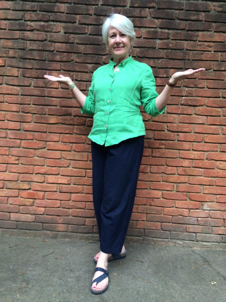 May 25 Butterick 6026 Katherine Tilton Blouse In Green Li