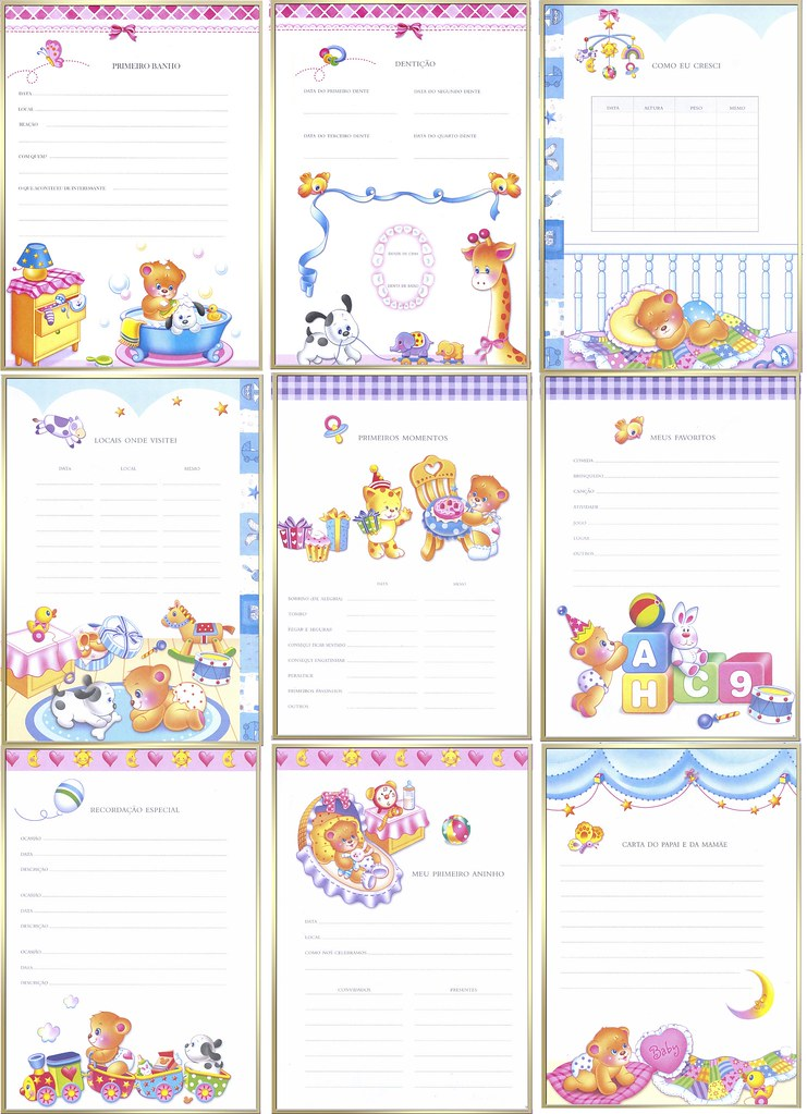 diário de bebê
