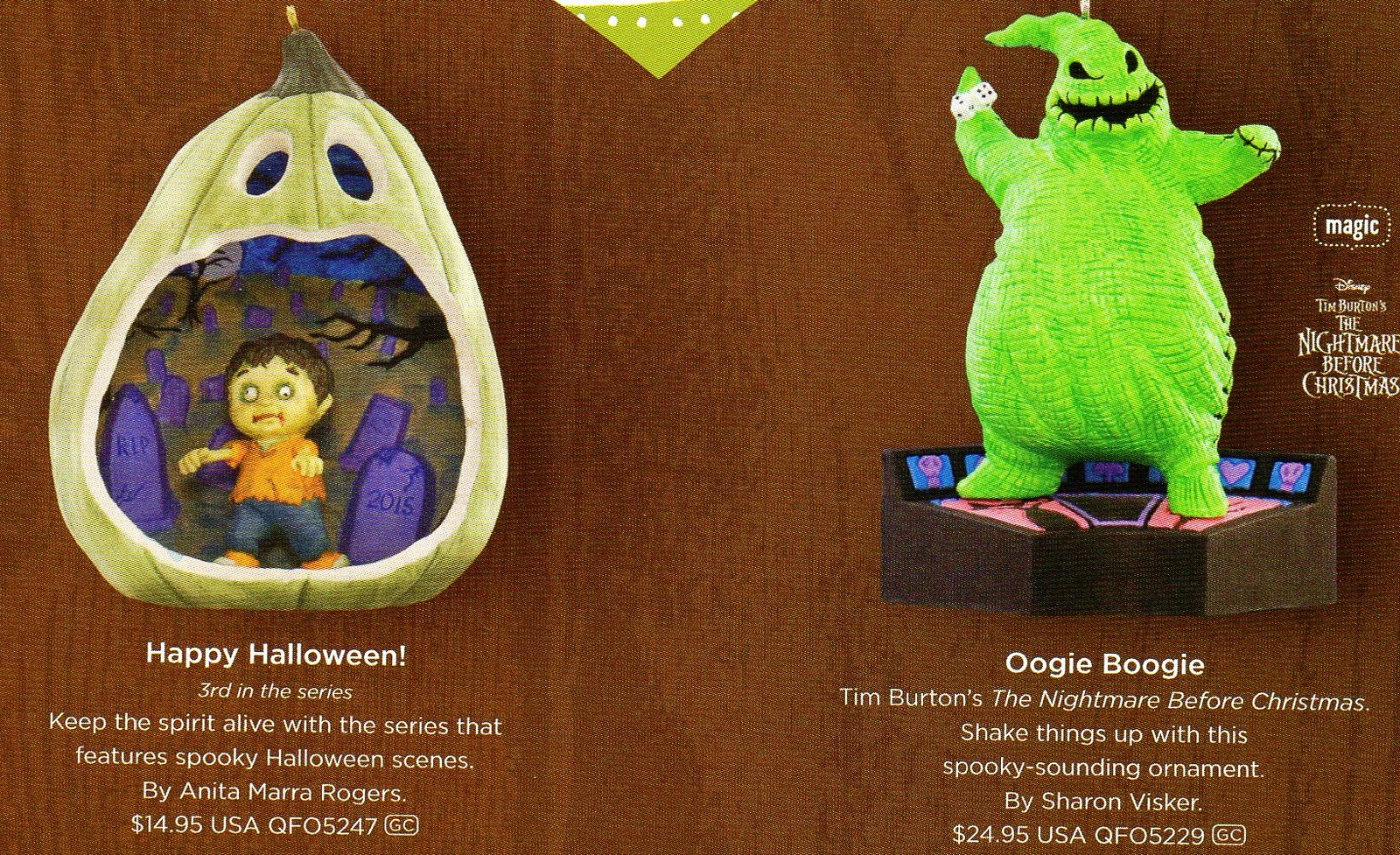 AEIOU...and Sometimes Why: Hallmark 2015 Halloween Ornaments