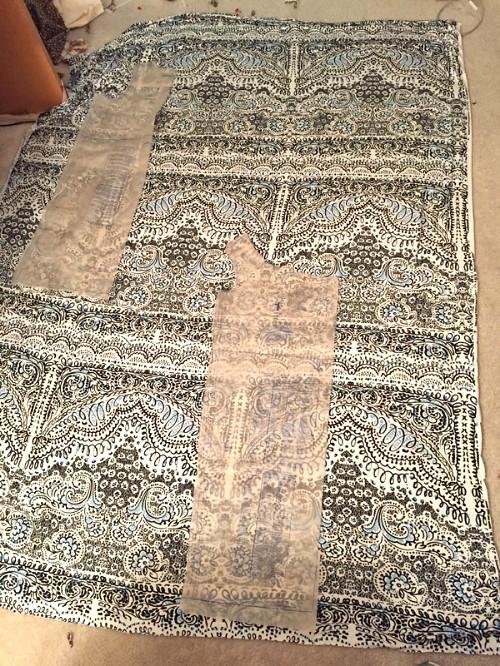 knit fabric on floor