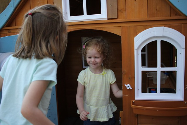 CC and Tilly in playhouse