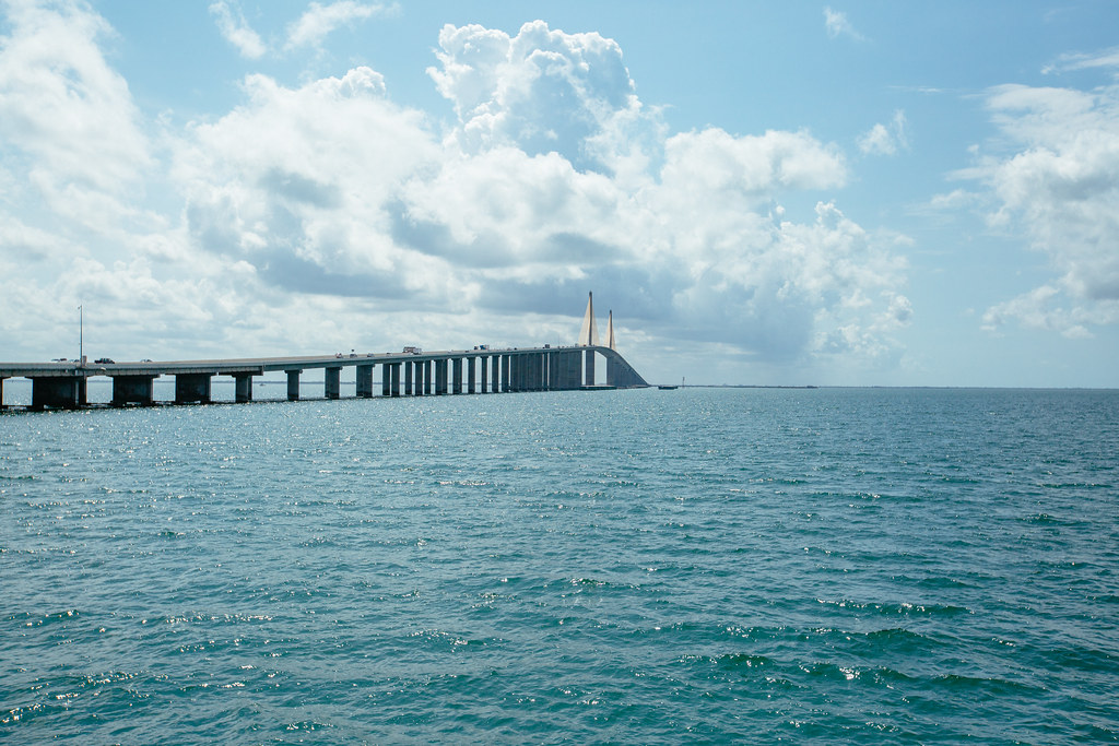 The sunshine skyway bridge the sunshine skyway bridge as for Sunshine skyway fishing pier