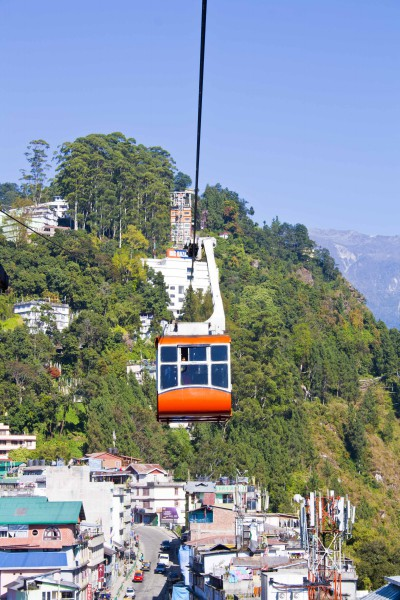 Rope way or Cable Car - Gangtok, Sikkim