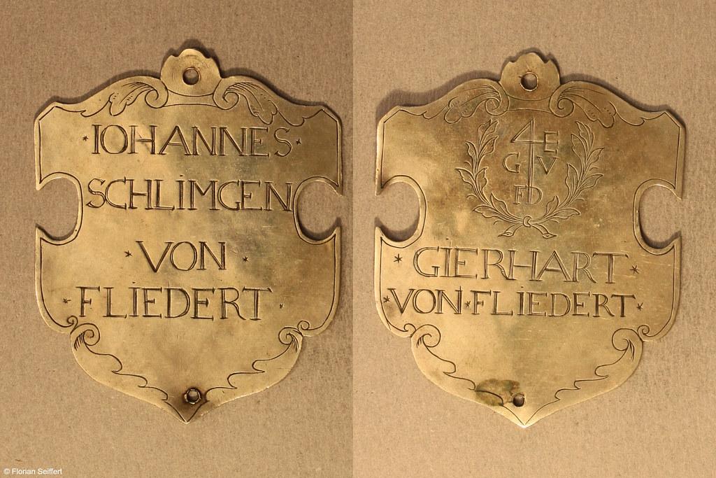 Koenigsschild Flittard von fliedert von iohannes schlimgen aus dem Jahr 1693