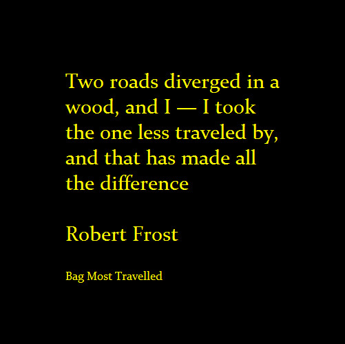The Road Not Taken - Poetry - Robert Frost - Poem - Travel