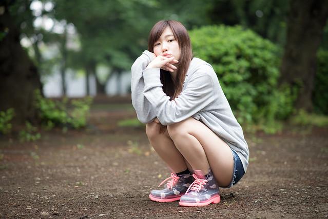 上野公園でポートレート撮影