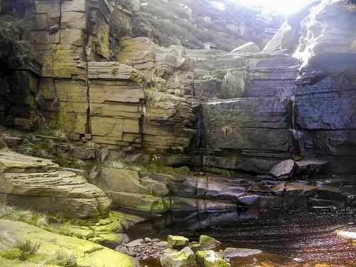 Wildboar Clough lower waterfall