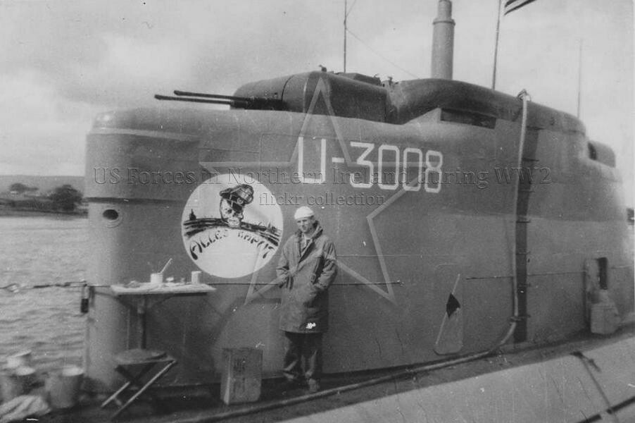 u 3008 type xxi u boat at lisahally 1945 u 3008 at