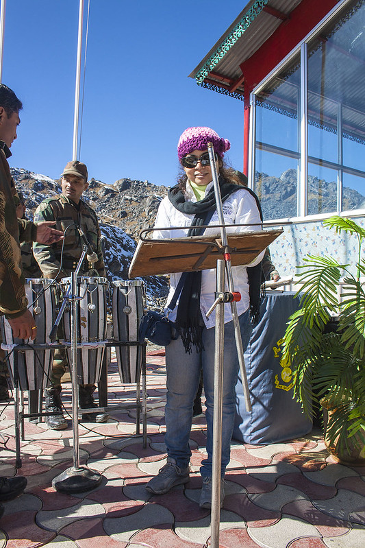 Nathu La Pass - My Wife Performing with Indian Army Music Band