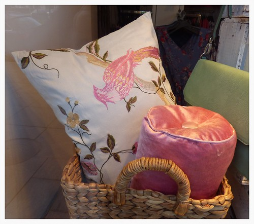 a pink pillow