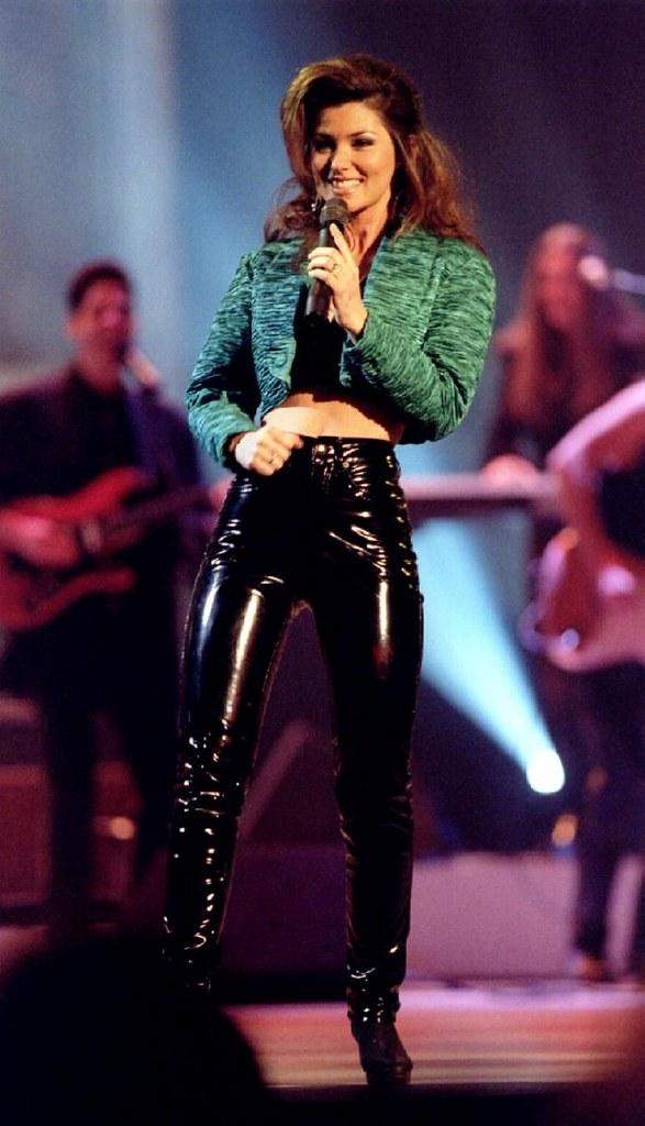 Shania Twain In Vinyl Pants Vinyl Beauties Flickr