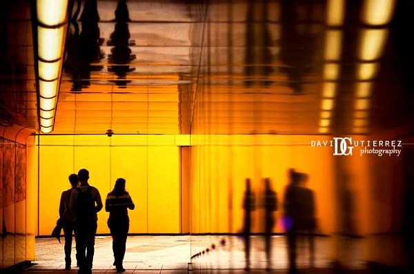 """""""Orange Underpass"""" Little Venice in Maida Vale, London, UK - David Gutierrez Photography, London photographer"""