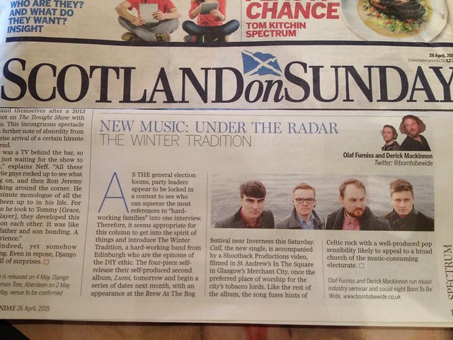 Olaf Furniss and Derick Mackinnon Scotland On Sunday, Spectrum Magazine 26 April 2015, The Winter Tradition