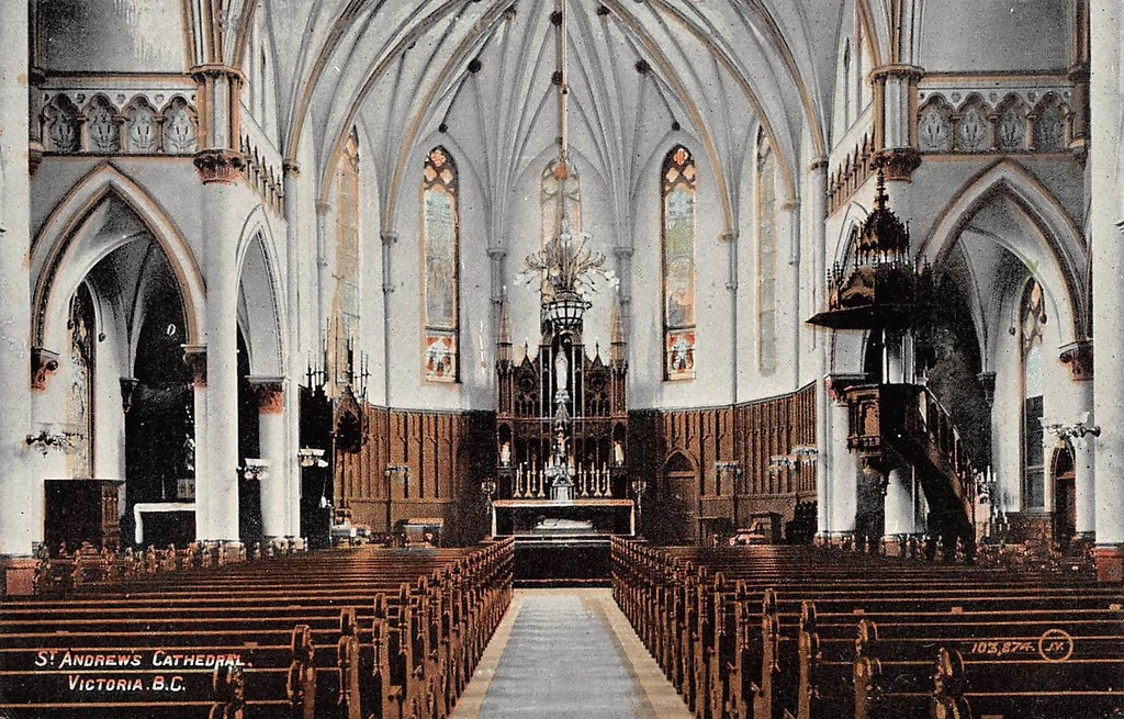 postcard st andrew s roman catholic cathedral interior