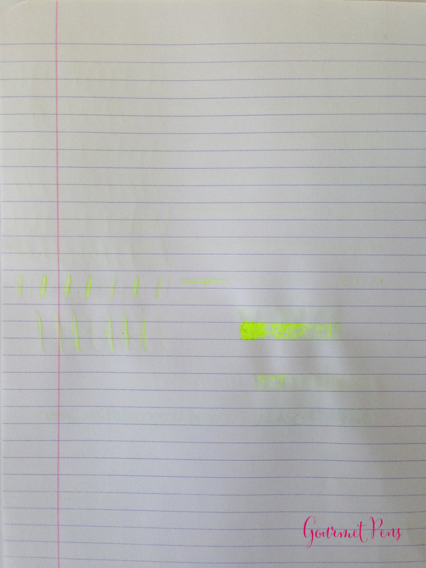Ink Shot Review Lamy Neon Lime Ink @Fontoplum0 @Lamy (8)