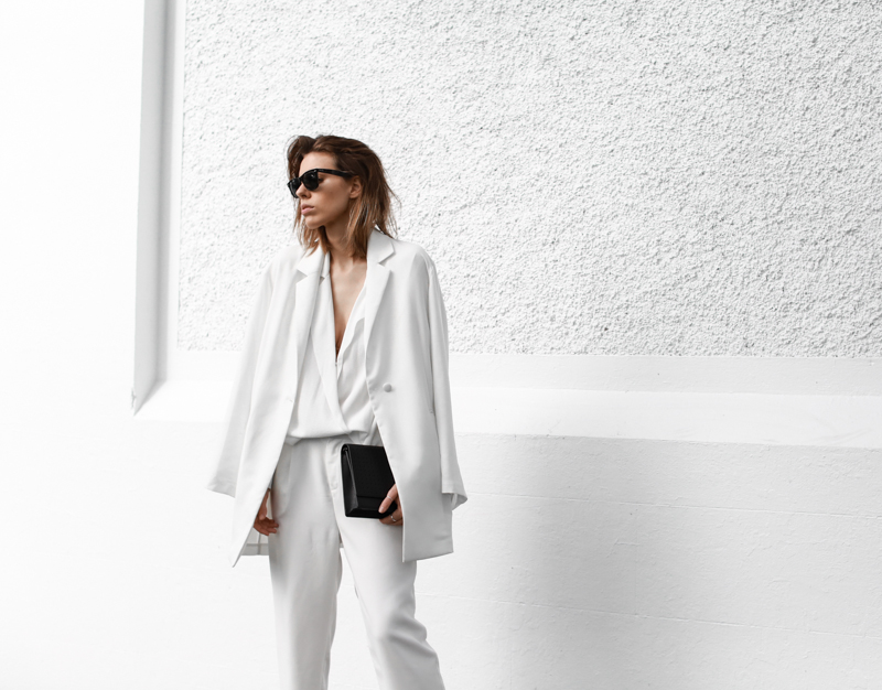 modern legacy, all white, street style, BC the label, suiting, layering (1 of 1)