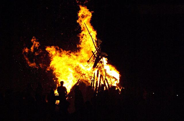 Bonfire, Noche de San Juan, Puerto de la Cruz, Tenerife