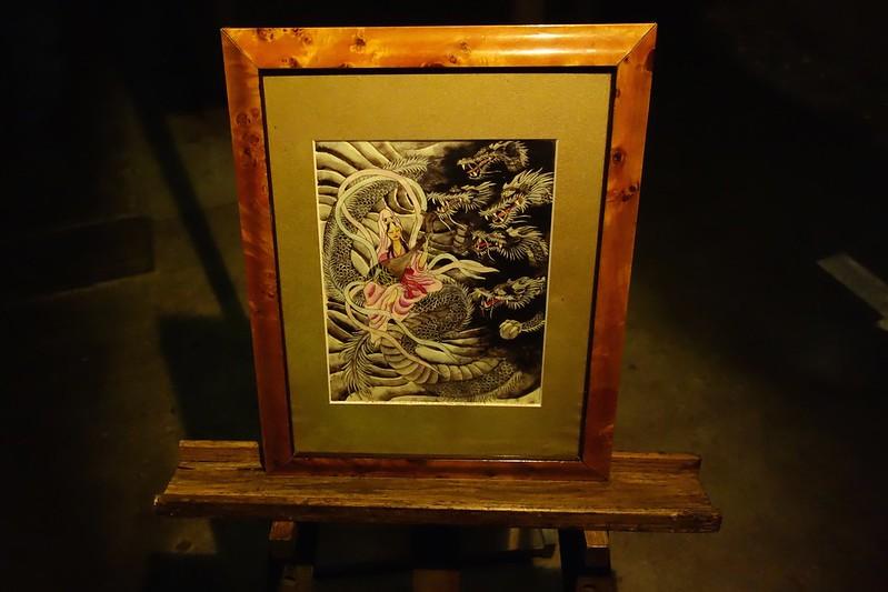江の島第二岩屋内の天女と五頭龍の絵