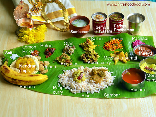 Onam sadya serving order