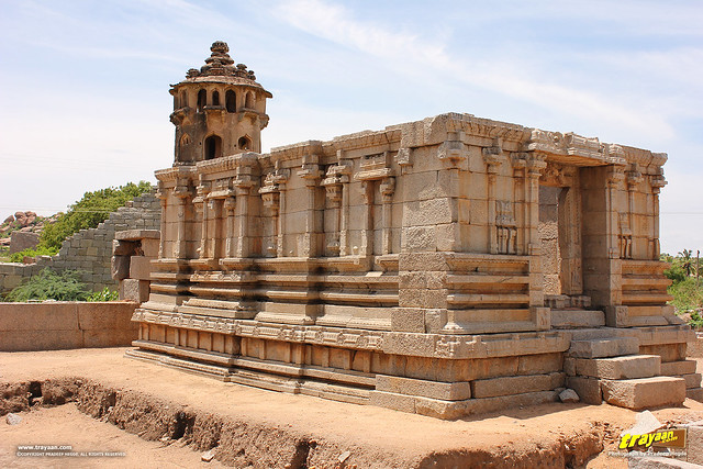 Devi Shrine in Ranga or Madhava temple complex, Hampi, Ballari district, Karnataka, India