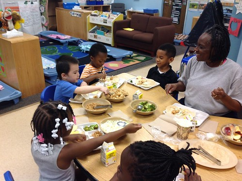 Serving Spoons and Healthy Habits – Encouraging Positive Mealtimes and Supporting Family Style Meals in Child Care