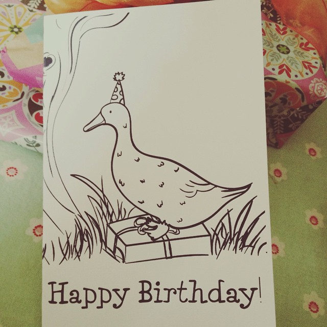 Adam @superadamgalaxy designed this gorgeous card for me. Duckie!