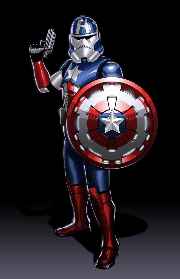 Avengers Clone Troopers Captain America by JonBolerjack