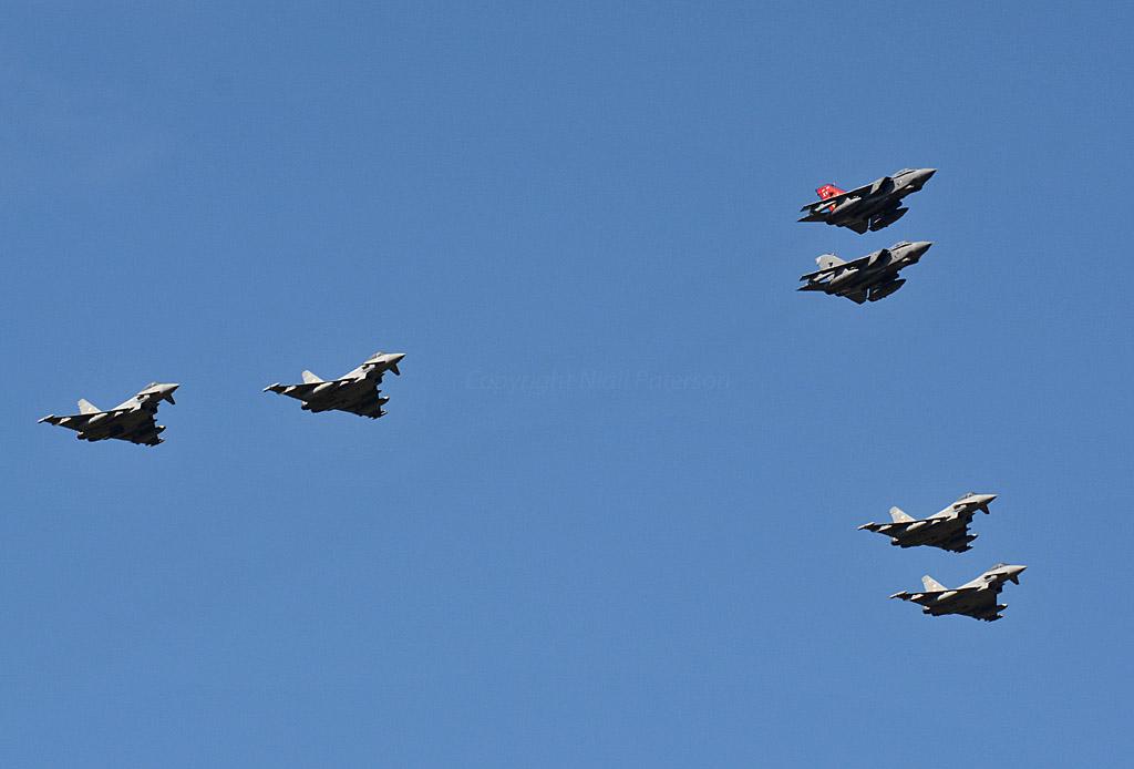 Oc Xv R Sqn Last Flight 2 1 F Squadron Typhoons Form