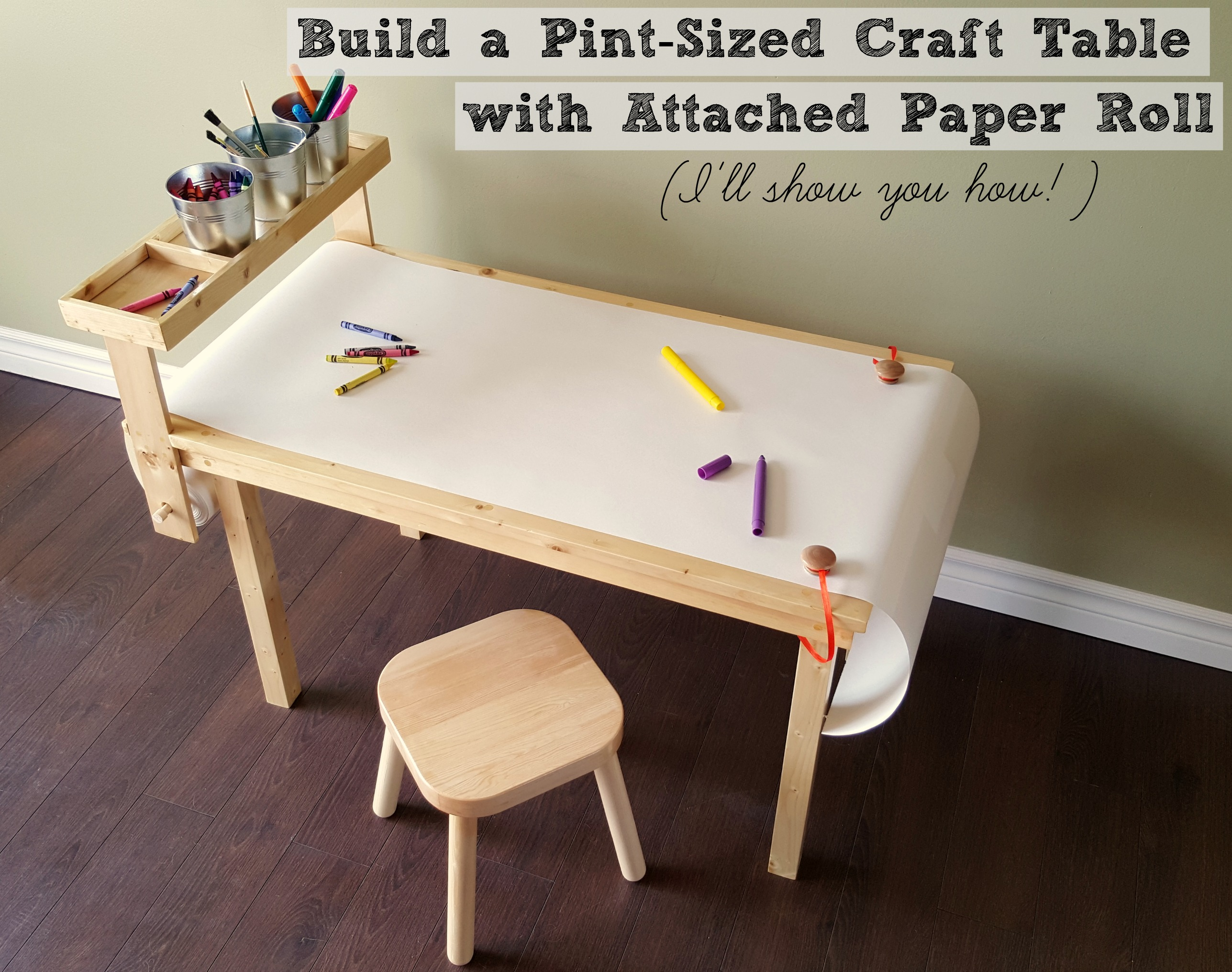 turtles and tails diy children 39 s craft table with paper roll