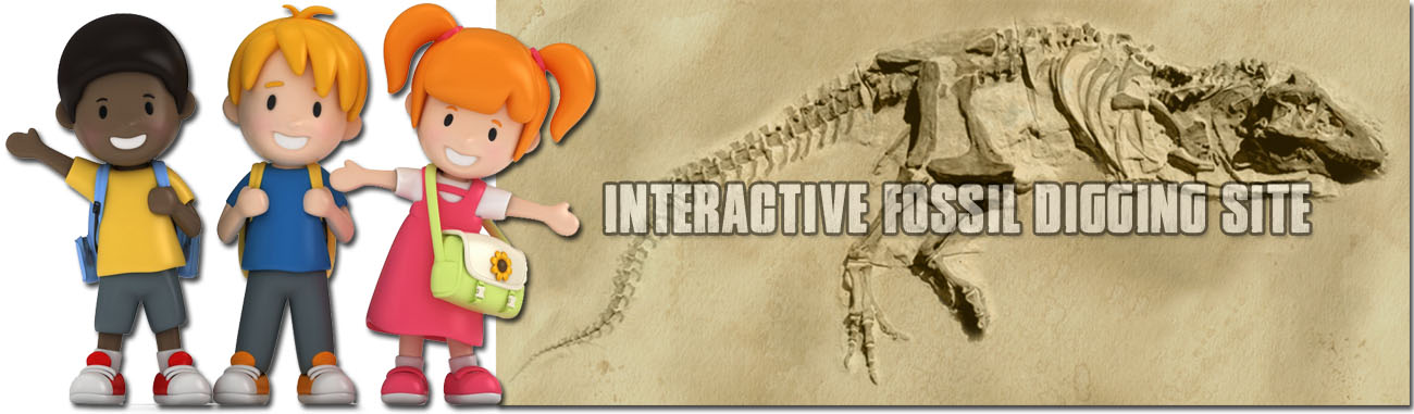 Interactive Fossil Digging Site