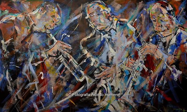 """Finissage da grande exposição """" Jazz a 360º """" de Francisco Xicofran Fernandes, no palácio do Egipto em Oeiras"""