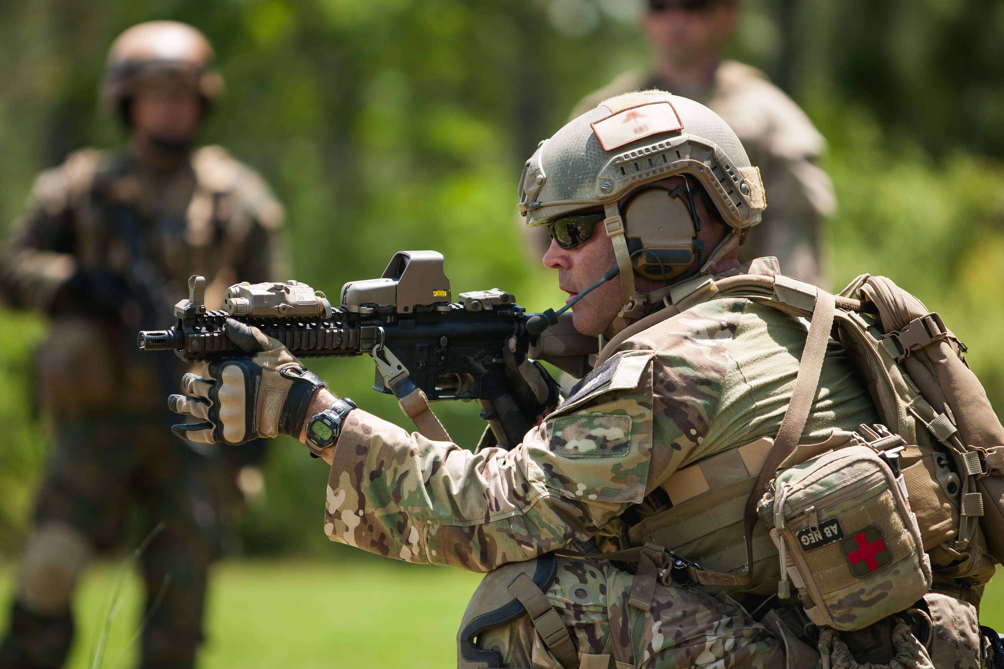 A U S  Special Forces soldier with the Army National Guard
