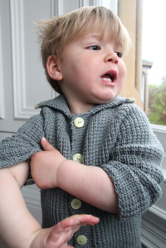 handknit toddler cardigan
