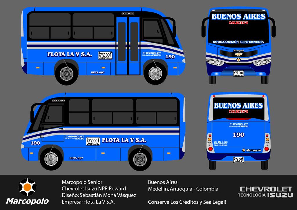 Diseo De Bus Marcopolo Senior Flota La V SA