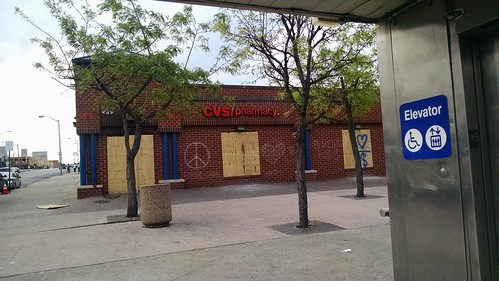 CVS pharmacy at Pennsylvania & North Avenue one week after it was rocked by violent protests.