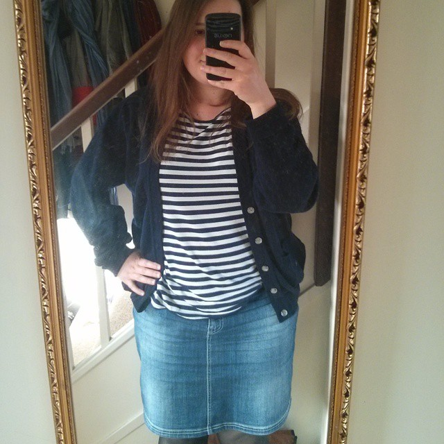 #mmm15 day 7 - off to vote in my pirate stripe Coco top