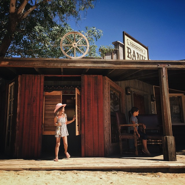 A tiny town called Pioneertown was created in the 1940s in the hills above Joshua Tree as a live-in Old West movie set. And it will forever be our favorite pretend cowboy town.