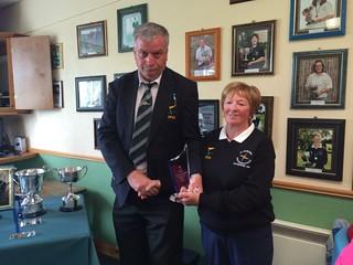 Bernie Dunne 2015 Leinster Intermediate Ladies Matchplay Champion