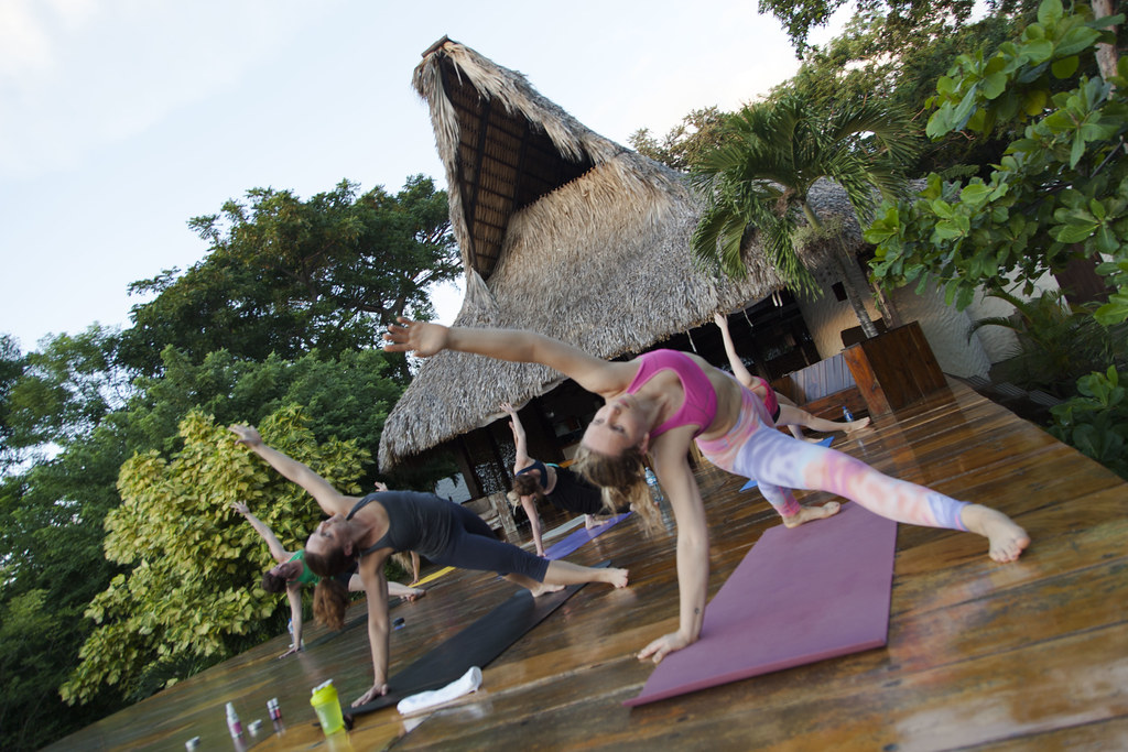 Yoga on the deck at Buena Vista Surf Club