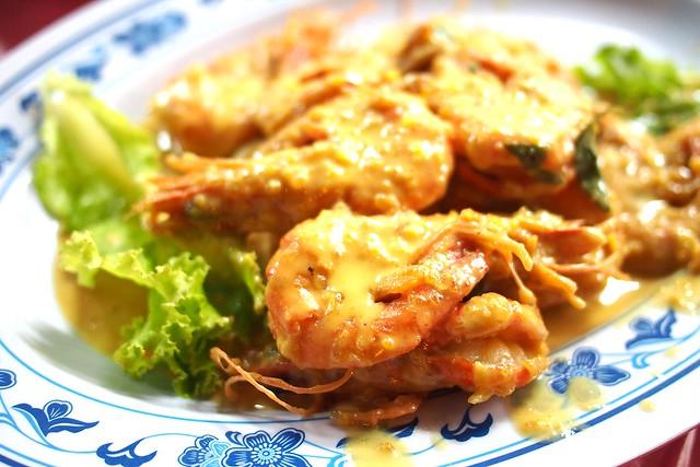 Salted egg prawns, Keng Eng Kee Seafood, 124 Bukit Merah Lane 1, Singapore