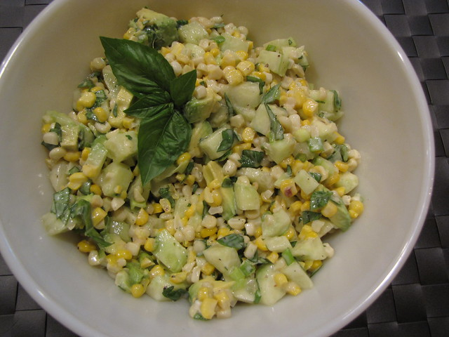 Cucumber Corn & Avocado Salad