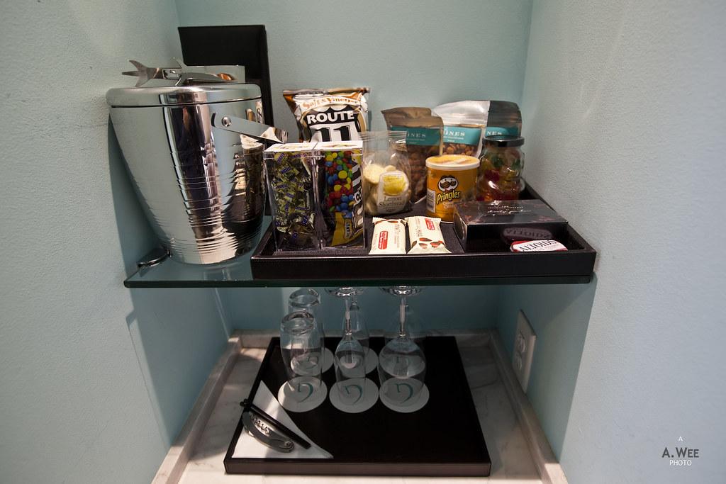 Minibar snacks