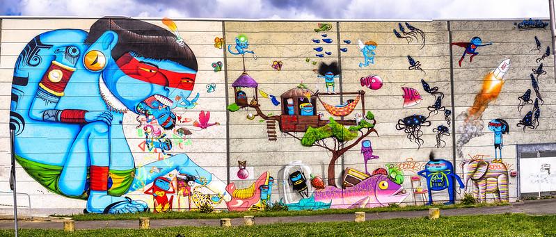 Evry Daily Photo - Fresque Murale Evry - Festival Street Art  Cranio