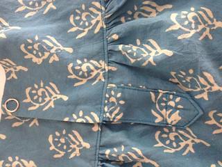 SEW - Blue Ugadi - Back Placket